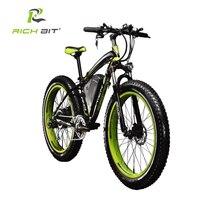 RichBit New 21 Speeds Electric Fat Tire Bike 48V 1000W Lithium Battery Electric Snow Bike 48V
