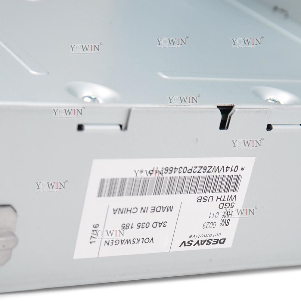 3AD 035 185 RCD 510 autoradio lecteur MP3 USB AUX carte SD pour VW Golf MK5 Jetta MKV Tiguan Passat CC nouvelle Polo 6R 3AD035185 - 5