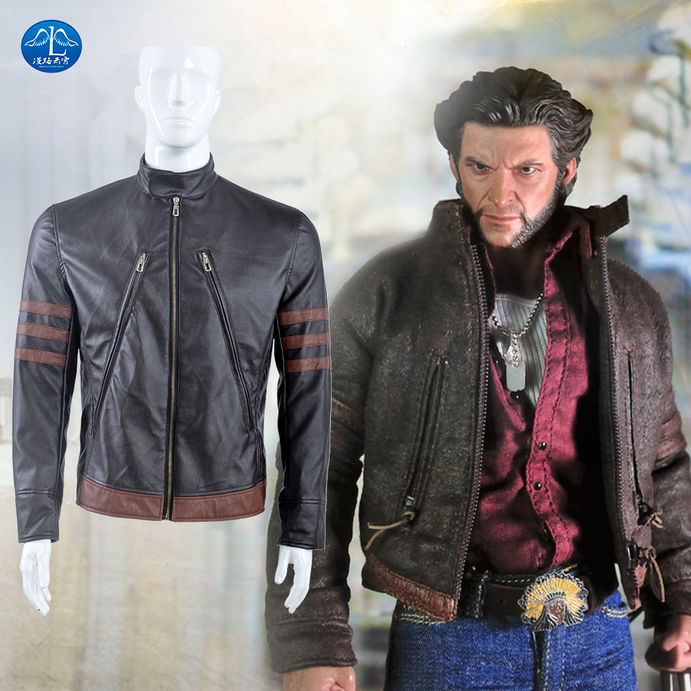 "MANLUYUNXIAO Hot Movie X-Men Days of Future Past Jacket Superhero James ""Logan"" Howlett Cosplay Costume Men's Jacket"