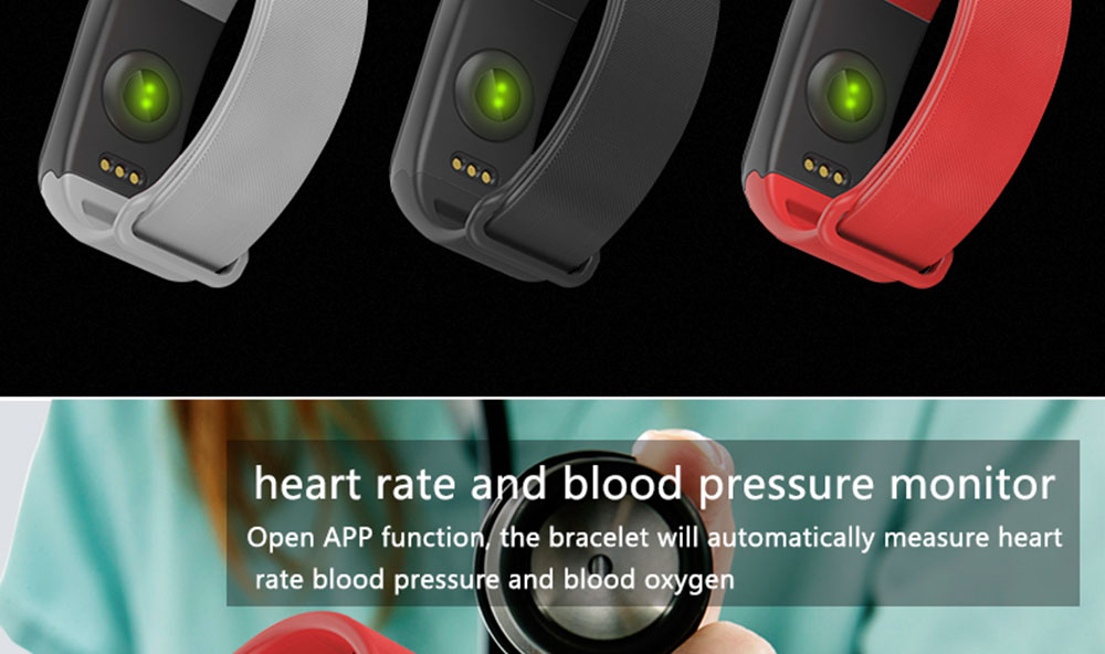 COXANG F1 Smart Bracelet Passometer Blood Pressure Activity Fitness Tracker  Smart Band Heart Rate Monitor Wearfit Bracelet