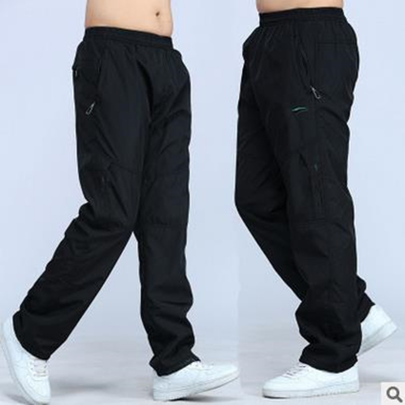 2020 Brand Plus Size Men Casual Cargo Pants Full Length Pants Loose Mens Joggers Spring Summer 3XL Wicking Men