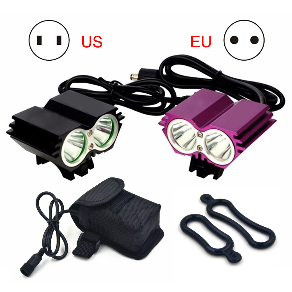 TSLEEN X2,X3 Bicycle Light 6000 Lumens 3 Mode XM-L T6 LED Cycling Front Light Bike light Lamp Torch+ Battery Pack+Charger