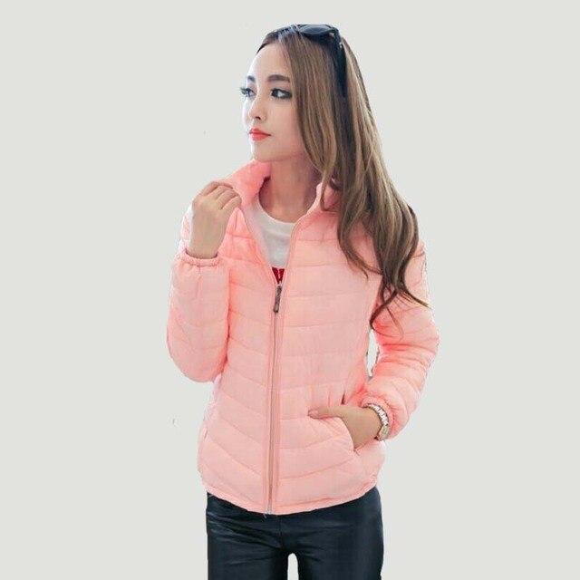 Зимняя куртка пальто 2017, женская обувь новые зимние Женская куртка-парка короткий тонкий утолщение вниз куртка на подкладке из хлопка женские Верхняя одежда черный, красный