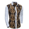 Shirt Long Sleeve Men 2017 Men's Fashion Makings High-grade Printing	mens African Clothing  The Leisure Business Camisa Social