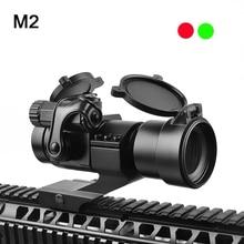 M2 الصيد Riflescope منعكس الأحمر الأخضر نقطة نطاق تهدف البصر مسدس ليزر تلسكوب الرؤية 20 مللي متر السكك الحديدية يتصاعد لتصوير الحرارية