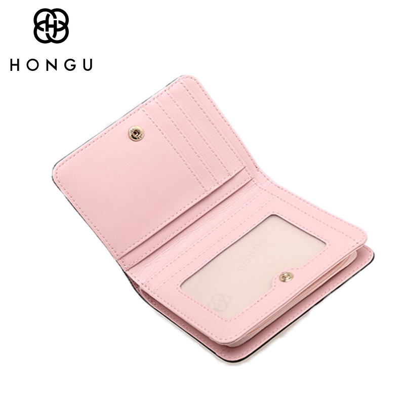 HONGU Coin Purses Small Bags Women Wallets Multicolor Credit Business Card Holder For Women Clutch Cow Leather Bags Famous Brand