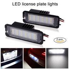 Новый 2 шт./компл. автомобиля светодио дный номер Подсветка регистрационного номера замена лампы накаливания для VW GOLF MK4 MK5 Passat CC DXY88
