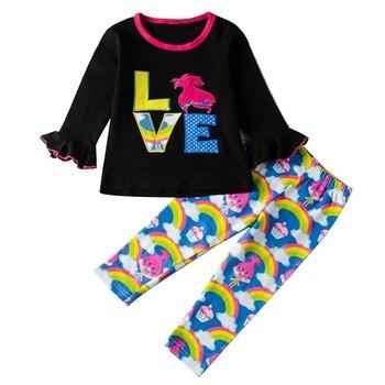 f6662f2c0 Traje de chica Pudcoco 1Y-6Y UK 3 piezas niños niñas verano camiseta +  Pantalones largos conjunto ...