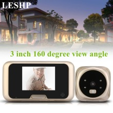LESHP 3.0 inch TFT LCD Video Camera Peephole Wireless Zoom Camera Doorbell 160 Degrees Wide Viewer Night Vision Doorbell