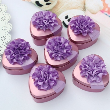 30pcs creative wedding candy boxes heart-shaped candy boxes to celebrate the wedding of tinplate gift box tin candy box