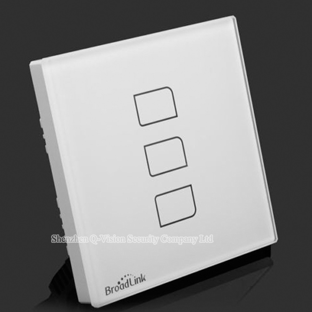 3--Broadlink UK Standard TC2 3 Gang Wireless Remote Control Wifi Wall Light Touch Switch RF433MHZ AC110V-240V Smart Home Automation