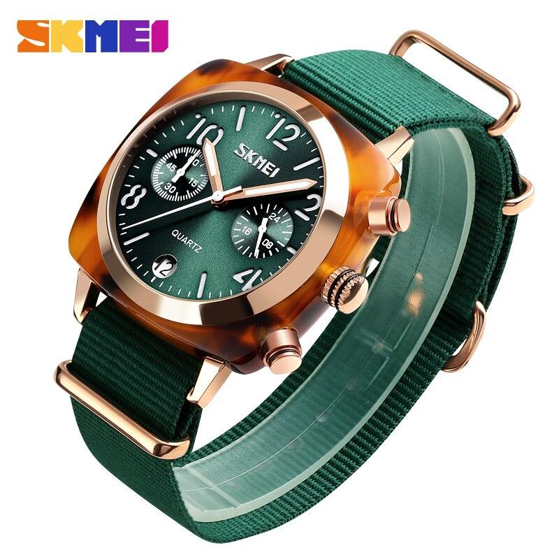 Skmei Quartz homme montres Minute minuterie Date femme montre-bracelet lumineux pointeur Relogio Masculino acier inoxydable femmes montres