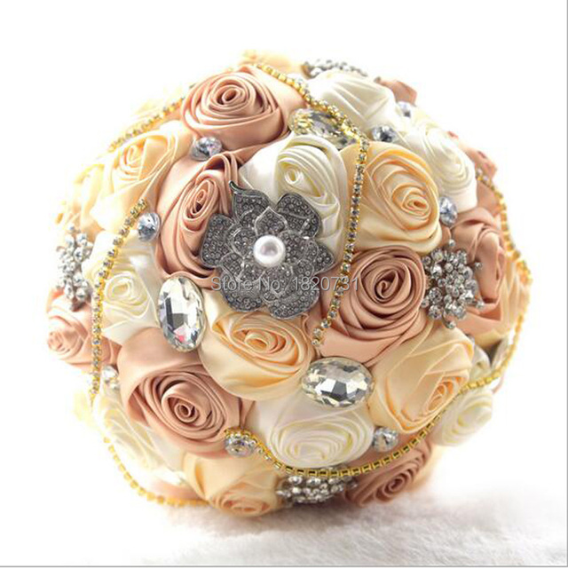 2017 Newest Stunning Wedding flowers Colorful Bridesmaid Bridal Bouquets artificial Rose Wedding Bouquet