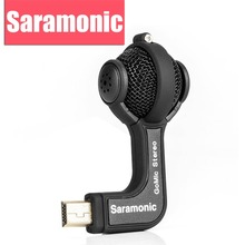 Saramonic GoMic Gopro Mic Accessories Mini Stereo Ball Professional Microphone for Gopro Hero 4 3+ 3 Action Cameras