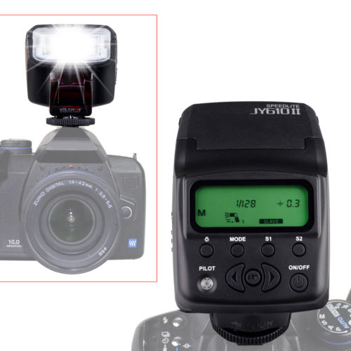 DHL 20pcs Viltrox JY-610 II LCD  mini Flash Strobe Light Speedlite for  Canon Nikon DSLR SLR Camera 70D 5DIII 7D D3200 5100