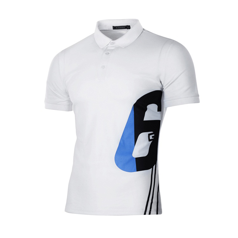 New Simple Fashion   POLO   Shirt Digital Printing Short-sleeved Lapel Cotton Breathable Quick-drying Casual Outdoor Sports Shirts