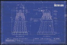 Buy diy blueprints and get free shipping on aliexpress dalek blueprint doctor who sci fi tv retro vintage classic poster canvas painting art wall malvernweather Image collections