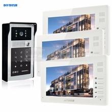 DIYSECUR 7inch HD TFT LCD Monitor Video Door Phone Video Intercom Doorbell 300000 Pixels HD Camera RFID Reader + Password