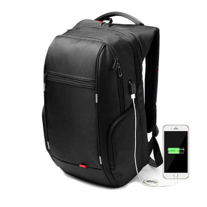 Black Laptop Backpack 15.6 Inch Waterproof For Men Women Anti-theft Notebook Backpacks Bag External Usb Port Computer Gym Bags