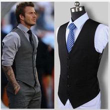 Suit vest wedding dress high quality cotton mens fashion design suit black gray pioneer business casual