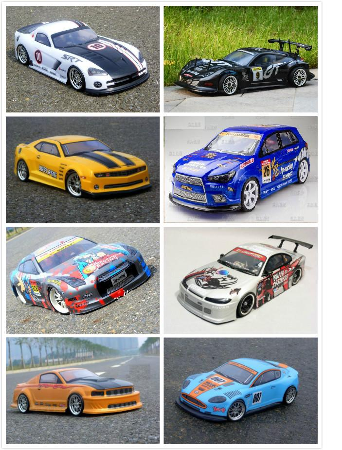 YUKALA 1pcs/lot 1/10 rc car parts painted shell body 1/10 car accessories for 1/10 rc car 190mm Multiple choices