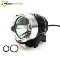 ROCKBROS Bicycle Headlight USB Rechargeable LED T6 LED Bike Head Led Riding Flashlight 3 Colors Waterproof