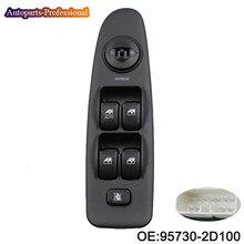 Новый автомобильный передний, левый электрический выключатель управления стеклоподъемником, подходит для Hyundai Elantra 2001 2002 2003 2004 2005 2006 93570-2D100