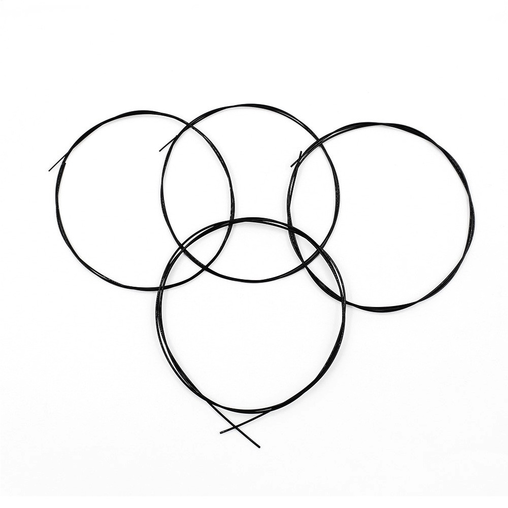 Ukulele Strings Black Nylon For Ukulele Clear Nylon Professional 4 Strings Ukelele Bright String
