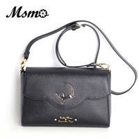 MSMO 2017 Sailor Moon Women Small PU Leather Messenger Bags Black Luna Cat Shape Shoulder Bag Crossbody Small Bag
