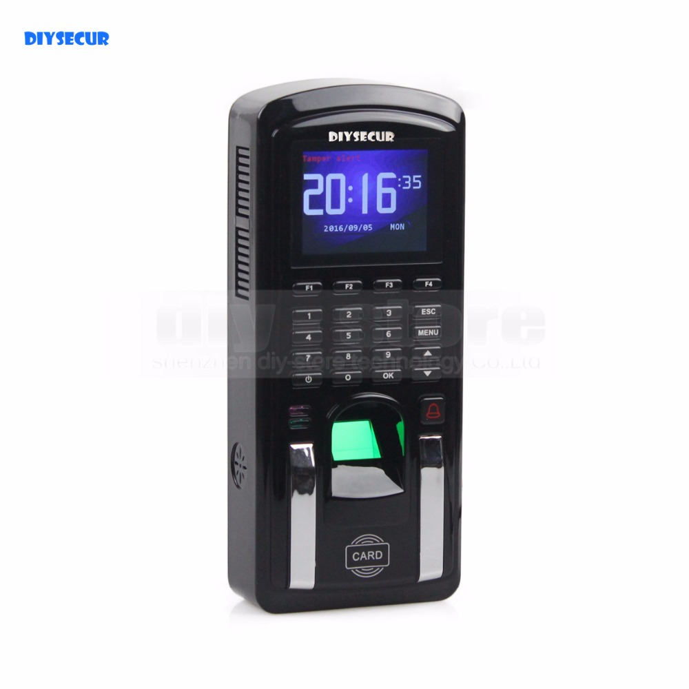 DIYSECUR Biometric Fingerprint Access Controller And Attendance TCP IP With RFID Card Reader + USB MF151 fingerprint rfid card reader keypad time attendance access control terminal usb tcp ip fast and reliable performance