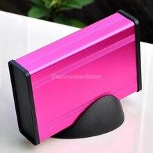 Алюминиевый Проект Box Enclousure Дело с Базы, пурпурный, 3.78 «х 1.3″ х 5.51»