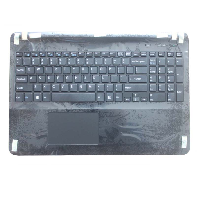 US laptop keyboard for sony Vaio SVF15 FIT15 SVF151 SVF152 SVF153 SVF1541 SVF15E keyboard with frame Palmrest Touchpad Cover for sony vpceh35yc b vpceh35yc p vpceh35yc w laptop keyboard