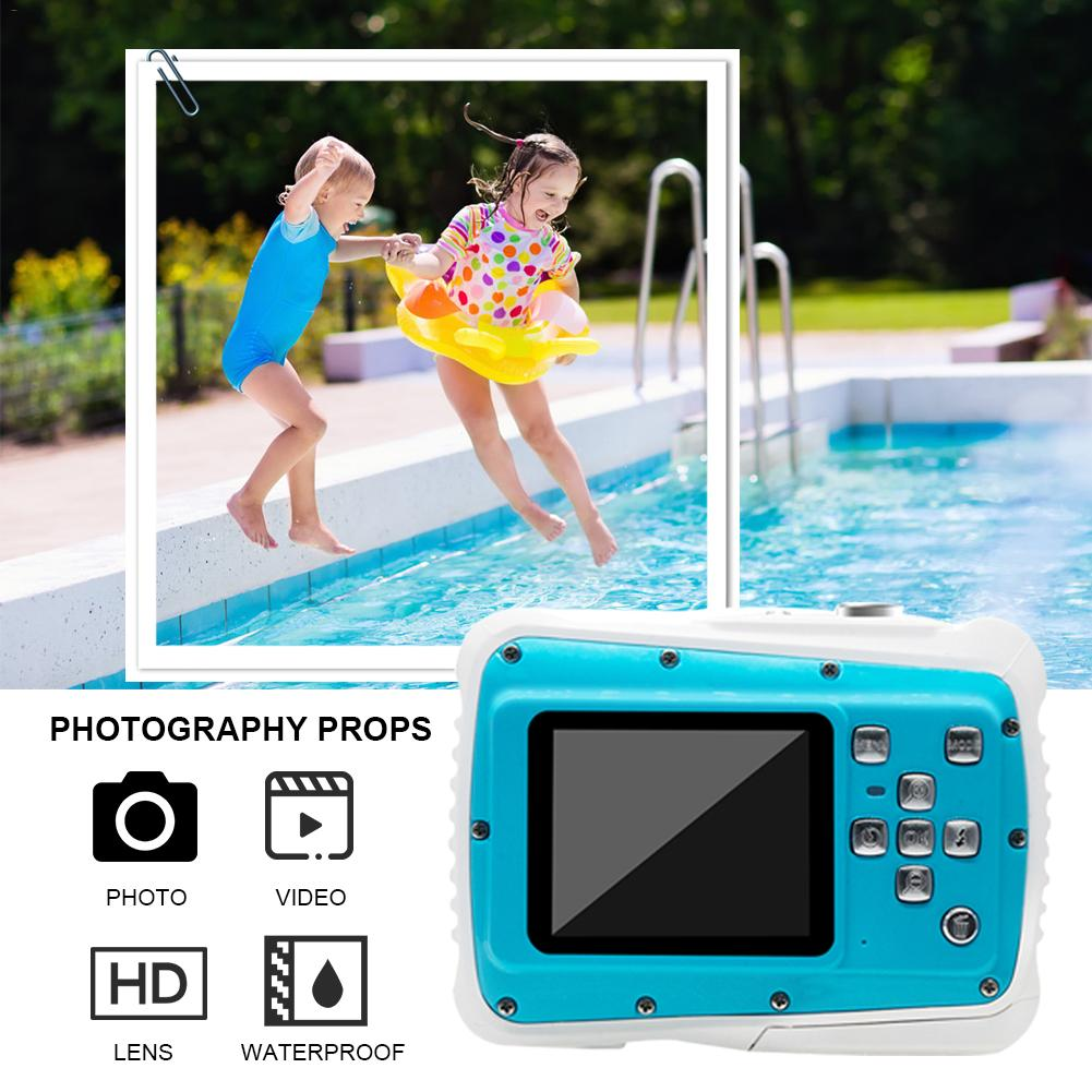 Appareil photo numérique appareil photo sous-marin pour enfants 8MP HD écran LCD étanche 8X Zoom numérique 2 XAAA batterie cadeau pour enfants