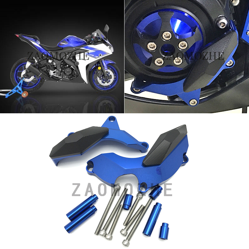 For Yamaha MT03 MT25 YZF R3 2015 2016 Engine Slider Protector Naked Bike Engine Frame Sliders Guard Cover Pad YZF-R25 2013-2016
