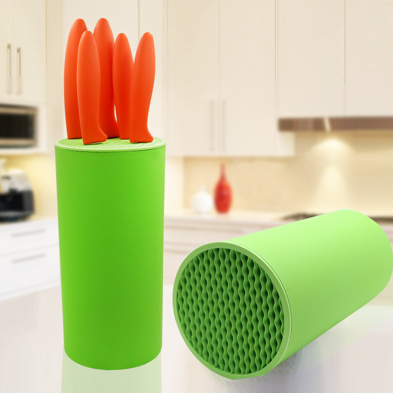 Creative Kitchen Knife Holder Storage Ceramic Knife Block Stand For Knives PP Plastic Rack Multifunctional Tool Holders