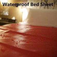 210*170cm Red PVC Waterproof Bed Sheet Couple Sex Toys Flirting Bondage Sex Furniture Bedding Sex Product