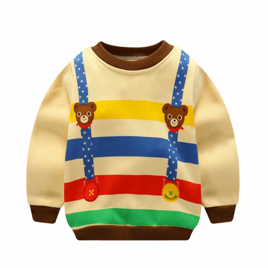 Осенне-зимняя детская толстовка для мальчиков новая одежда для мальчиков толстовки с капюшоном для маленьких девочек Весенняя детская футболка для Feece Inside DS19