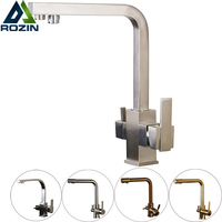 Luxury Water Filter Dual Function Kitchen Faucet Deck Mounted Pure Water Bathroom Kitchen Mixers With Hot