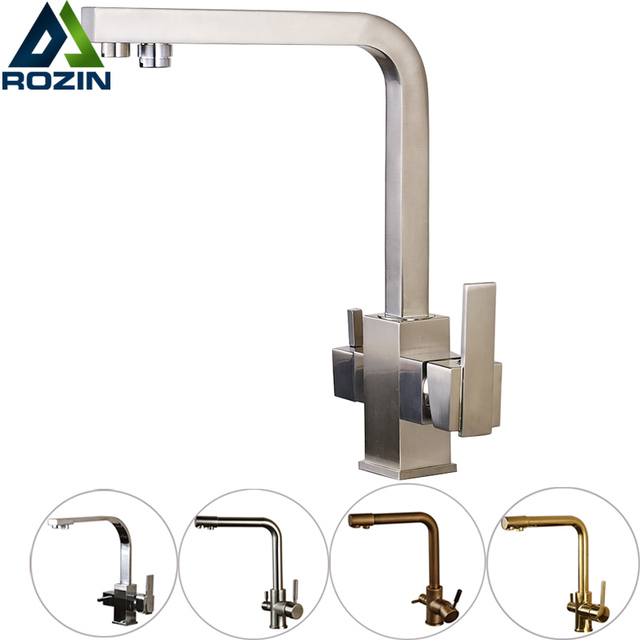 hot and cold water filter faucet. Luxury Water filter Dual function Kitchen Faucet Deck Mounted Pure  Bathroom Mixers with Hot