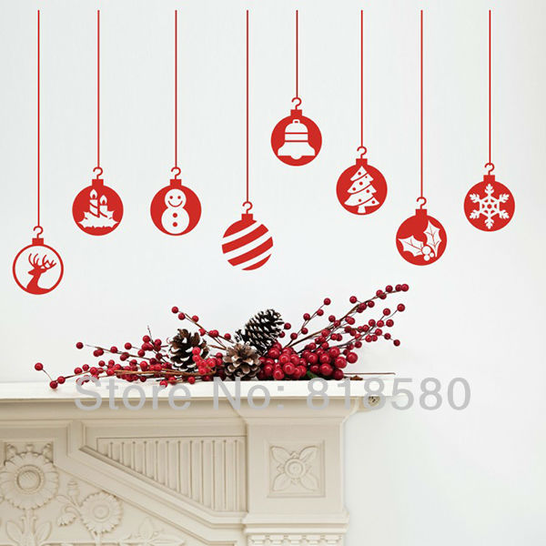 free shipping home decor christmas window charm vinyl wall art