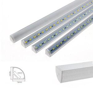 Image 2 - LED Tube Lamp for Wall Corner LED Bar Light DC 12V 50cm SMD 5730 Rigid LED Strip Light Under Cabinet Light Kitchen Home Decor