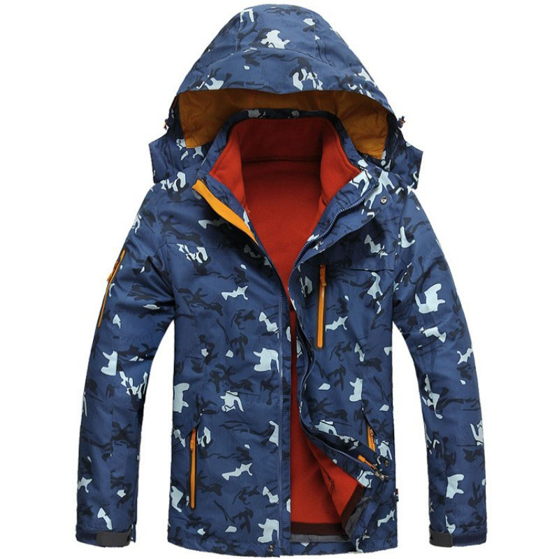 2018 New Men Winter Snowboard Jackets Hooded Army Military Camouflage Coat Warm Skiing Sportswear Waterproof Camping Overcoat new men s military style casual fashion canvas outdoor camping travel hooded trench coat outerwear mens army parka long jackets