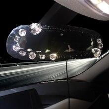 Кристалл * алмаз персонализированные модные женские туфли Автомобильное зеркало заднего вида покрытия авто стиль для девочек