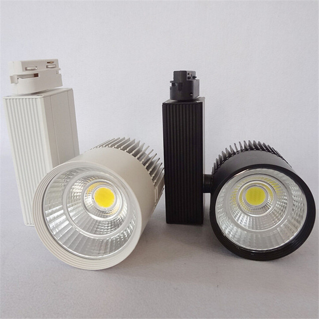 Hot sale   LED Track Light 30W COB Commercial Light  light Spotlight   AC85-265V industrial led track light for store