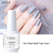 HNM 15 мл не чистый матовый верхний слой лак для ногтей УФ-гель Праймер лак замочить от длительного маникюра дизайн ногтей гель лак
