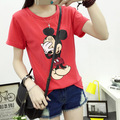camiseta mickey tshirt tee shirt femme short sleeve t shirt women 2017 cartoon t-shirt poleras de mujer blusa mickey Top