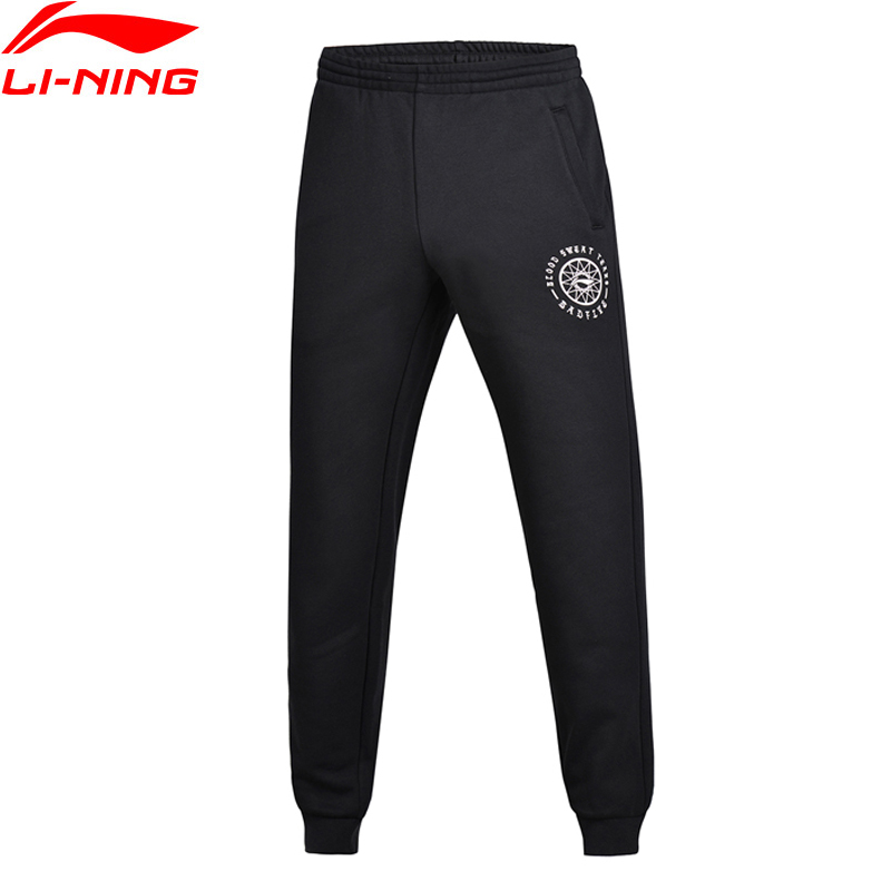 Li-Ning Men Bad Five Basketball Series Sweat Pants Warm AT Regular Fit Fleece Knit LiNing Sports Pants AKLM599 MKY314