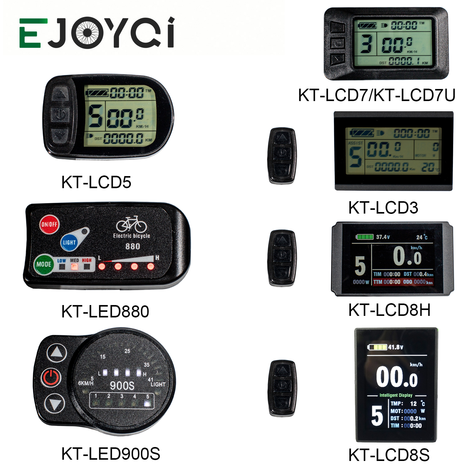 KT Display 36V 48V 72V Electric Bicycle Computer Ebike LCD LED Controller Panel LCD3 LCD5 LCD6  LCD7 LCD8 LED880 LED900S SM WP