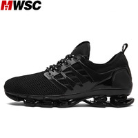 MWSC Mesh Breathable Fashion Male Blade Casual Shoes Soft Light TPU Sole Spring Blade Leisure Shoes