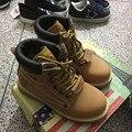 CCTWINS KIDS otoño amarillo martin botas para niños zapatos de las muchachas de la marca de cuero genuino botines botas vestido de la manera de los bebés